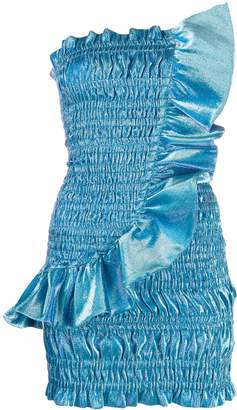 Area strapless ruched dress
