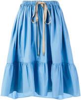 Fendi poplin flared skirt