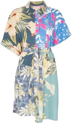 Rentrayage belted Hawaiian-print cotton dress
