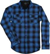 Burnside Men's Plaid Long Sleeve Flannel Button Down Shirt