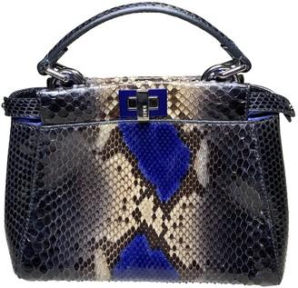 Fendi Peekaboo Blue Python Handbags