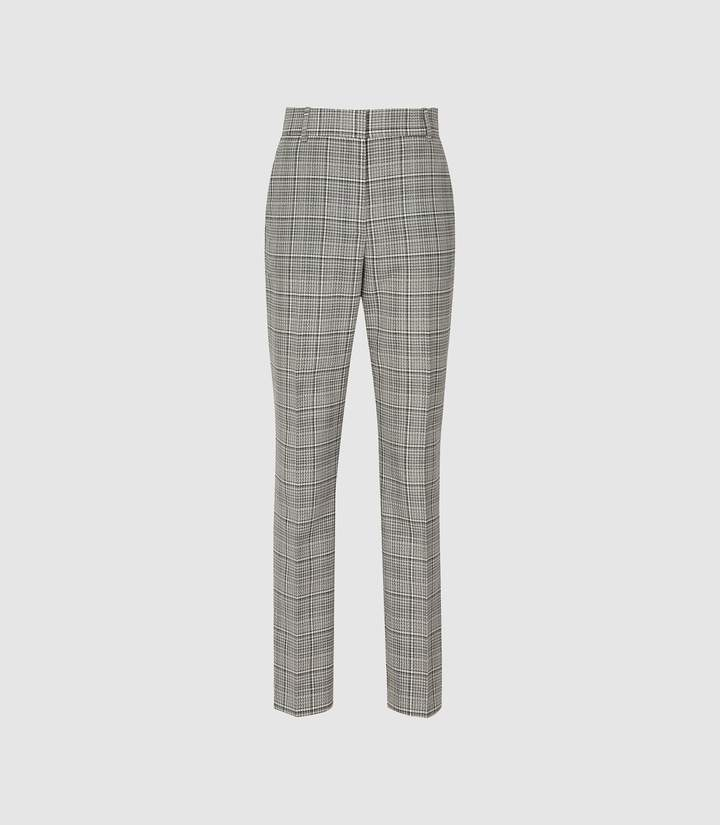 d3793930a38f Black White Print Trousers - ShopStyle UK