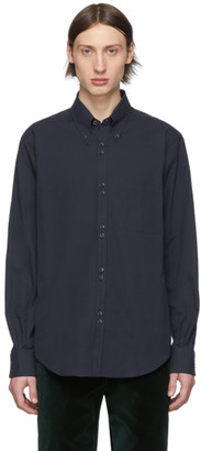 Cobra S.C. Navy Compact Twill Double Button Shirt