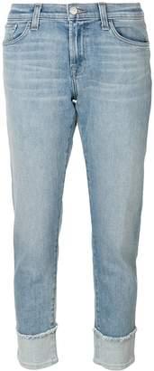 J Brand cropped straight-leg jeans