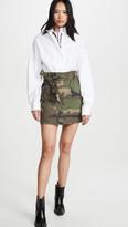 RtA Niccola-Zip Shirt Belted Skirt Combo