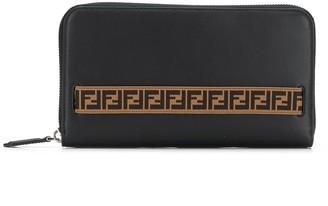 Fendi FF motif strap wallet