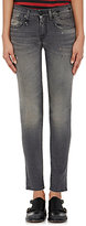 R 13 Women's Distressed Kate Skinny Jeans-Grey, Dark grey