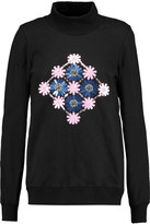 Markus Lupfer Daisy embellished cotton-jersey turtleneck sweatshirt