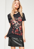 Missguided Black Iron Maiden Graphic T-Shirt