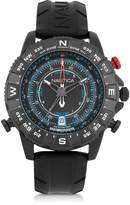 Nautica NSR 103 Tide Compass Black Stainless Steel Case and Rubber Strap Men's Watch