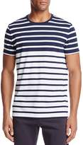 BOSS Striped Crewneck Short Sleeve Tee