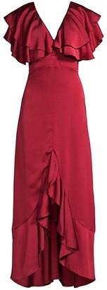 Azulu Sheen Tiered Ruffle Dress