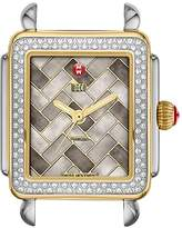 Michele Deco 16 Two-Tone Cocoa Mosaic Dial Watch Head, 29 x 31mm