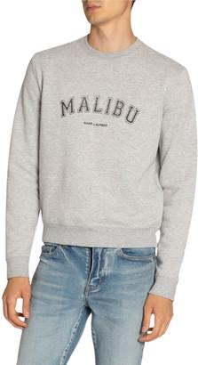 Saint Laurent Men's Malibu Crewneck Sweatshirt