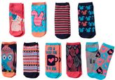 "Pink Cookie Girls 9-pk. Neon ""Let's Snuggle"" Low-Cut Socks"
