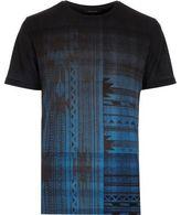 River Island Black Faded Geometric Print T-shirt