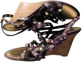 Louis Vuitton Purple Leather Sandals