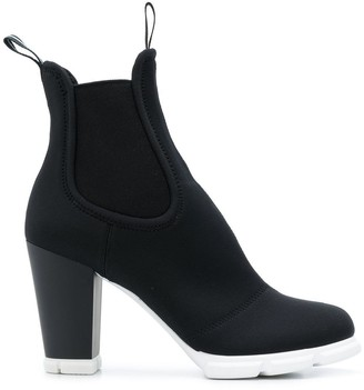Prada Scuba Ankle Boots