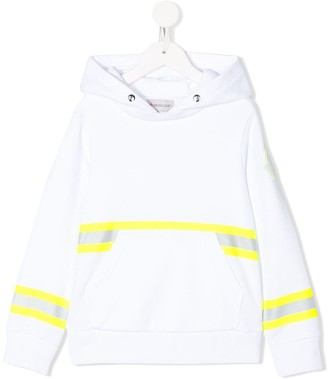 Moncler Enfant Loose-Fit Reflective Stripe Hoodie