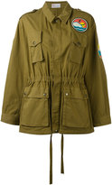 RED Valentino beach logo military jacket - women - Cotton/Polyester - 40