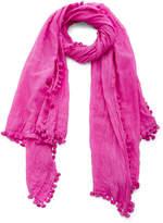 Matta Dupatta Tasseled Cotton and Silk-Blend Sarong