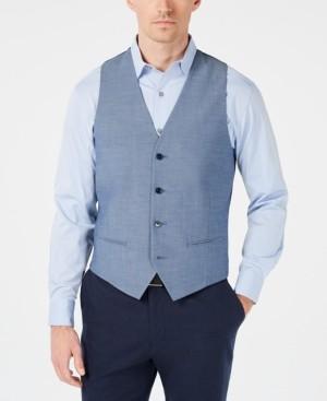 Alfani Red Men's Slim-Fit Performance Stretch Light Blue Vest, Created for Macy's