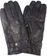 DiCapri Men's Leather Outdoor Winter Gloves (Black,)