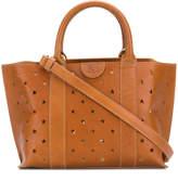 Il Bisonte perforated star handbag