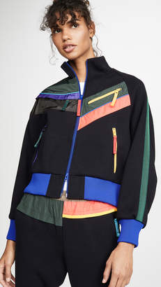 Kolor Colorblock Zip Detail Bomber Jacket