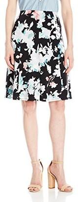 Ellen Tracy Women's Seamed Knit Skirt