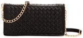 Urban Expressions Small Woven Flap Crossbody