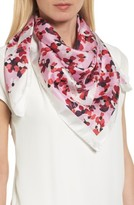 Kate Spade Women's Scenic Floral Square Silk Scarf