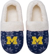 Unbranded Women's Michigan Wolverines Ugly Knit Moccasin Slippers