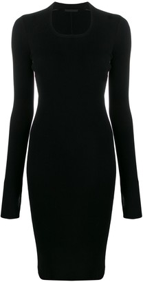 Helmut Lang Fitted Ribbed Knit Dress