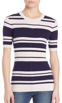 Frame Classic Ribbed Short Sleeve Sweater