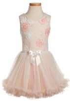 Toddler Girl's Popatu Elegant Flower Sleeveless Dress