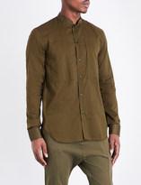 Balmain Mandarin collar slim-fit cotton shirt