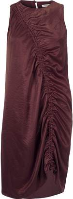 River Island Womens Dark Purple ruched front sleeveless dress