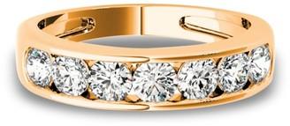 Lucid Styles 14K Gold 0.63 CT Round Cut Bold Channel Set Diamond Wedding Ring