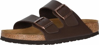 Birkenstock Unisex Arizona Soft Footbed Sandal Dark Brown Birko Flor 41 N EU/10-10.5 2A(N) US Women/8-8.5 2A(N) US Men