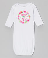 White Floral Wreath 'Daddy's Girl' Gown - Infant