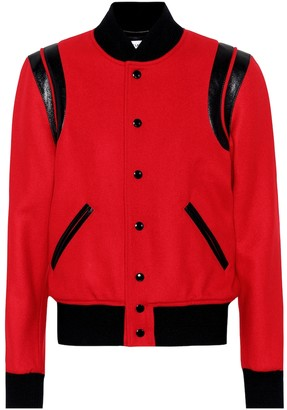 Saint Laurent Classic Teddy wool bomber jacket