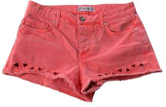 MANGO \N Orange Cotton Shorts for Women