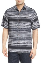 Tommy Bahama Men's Tripoli Tie Dye Stripe Silk Camp Shirt
