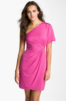 One Shoulder Cinched Waist Jersey Dress