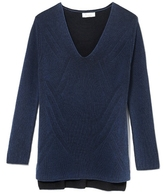 Two by Vince Camuto V-neck Rib-knit Sweater