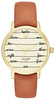 Kate Spade Women's 'Metro - Chalkboard' Leather Strap Watch, 34Mm