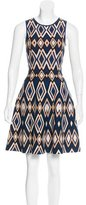 Issa Geometric Patterned A-Line Dress