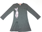 Funkyberry Cat Slit Dress (Toddler & Little Girls)