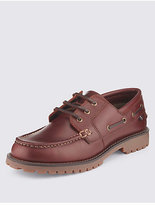 Blue Harbour Freshfeettm Leather Heavyweight Boat Shoes